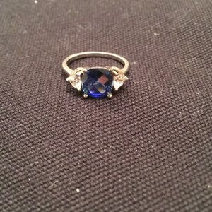 Jewelry - Sapphire and crystal ring
